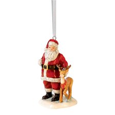 Annual Santa with Reindeer Ornament