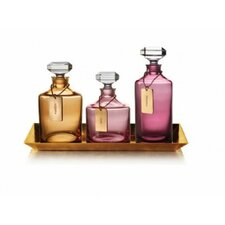 Rebel 3 Piece Decanter Set with Tray (Set of 3)