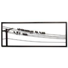 Birds on Wire Wall Art
