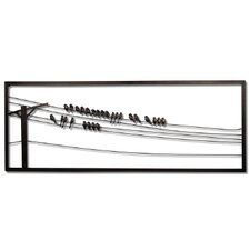 Birds on Wire Wall Art