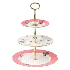 Cheeky Pink Roses Cheeky Pink Vintage 3-Tier Cake Stand