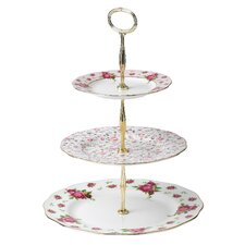 New Country Roses Vintage Formal 3-Tier Cake Stand