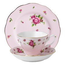 New Country Roses Teacup Set (Set of 3)