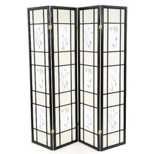 """70.25"""" x 69"""" Pateros Floral Printed Folding 4 Panel Room Divider"""