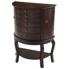 Bay Shore Oyster Bay Jewelry Armoire with Mirror