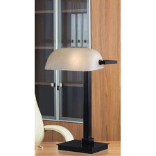 "Banker's 16"" H Table Lamp with Rectangular Shade"