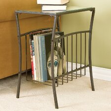 Hermitage End Table with Magazine Storage