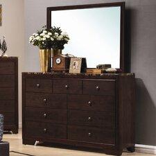 Annetta South 9 Drawer Dresser with Mirror