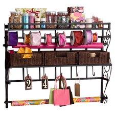 Lynbar Wall Mount Craft Large Storage Rack with Baskets