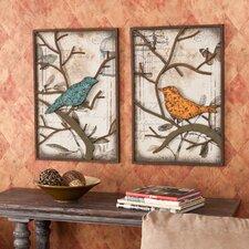2 Piece Merrick Vintage Bird Wall Décor Set