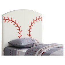 Bowdoin Baseball Twin Upholstered Headboard