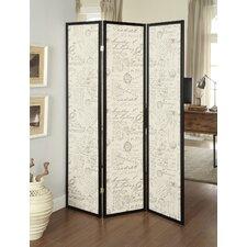 "70.25"" x 52"" 3 Panel Room Divider"