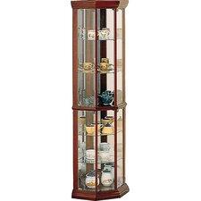 Benton City Curio Corner Cabinet with Mirror