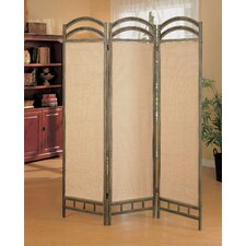 "72"" x 56"" Oakville Folding 3 Panel Room Divider"
