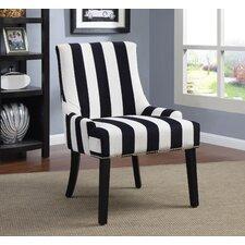 Navy Stripe Side Chair