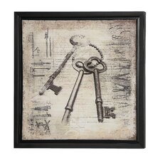 Key to Memory 2 Piece Framed Graphic Art (Set of 2)