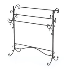 Permalloy Iron Scroll Quilt Rack