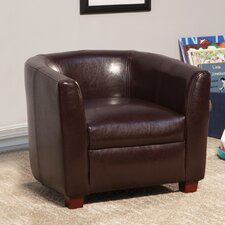 Kids Faux Leather Club Chair