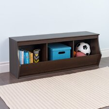 Stackable 3 Bin Storage Cubby