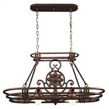 Dorada Lighted Hanging Pot Rack