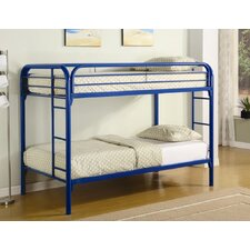 Framington Twin over Twin Bunk Bed with Built-In Ladder