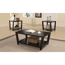 Amalga Angled 3 Piece Coffee Table Set