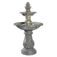 Cast Stone Venetian Floor Outdoor Fountain
