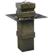 Cubist Slate Outdoor Floor Fountain