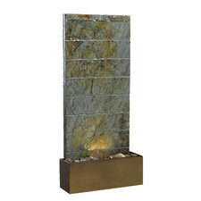 Resin and Stone Fountain with Light