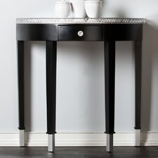 Carmichael Console Table - Mirrored Demilune