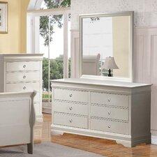 Louis Phillip 6 Drawer Dresser