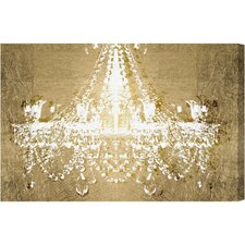 Dramatic Entrance Gold Graphic Art on Wrapped Canvas