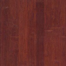"Glueless Locking 5-1/4"" Engineered Bamboo Hardwood Flooring in Cognac"