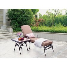 Antoine Chaise Lounge with Cushions (Set of 2)