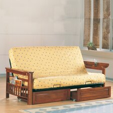Cottage Grove Futon Frame with Flip Up Arms and Magazine Rack