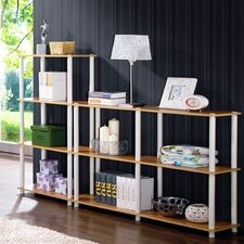 "43.7"" Accent Shelves Bookcase"