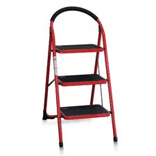 3-Steps Folding Step Stool with 200 lbs. Load Capacity