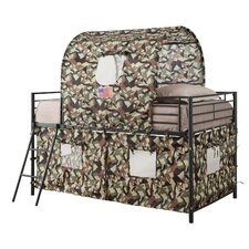 Camouflage Tent Twin Bunk Bed
