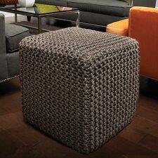 Corded Jute Cube Pouf Ottoman