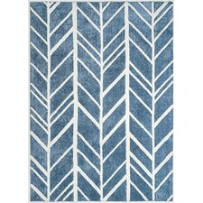Allister Steel Blue and Ivory Tufted Area Rug