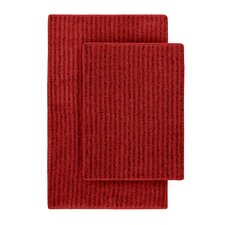 Devinne 2 Piece Red Bath Rug Set