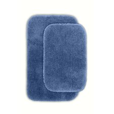 Devnet 2 Piece Blue Bath Rug Set (Set of 2)