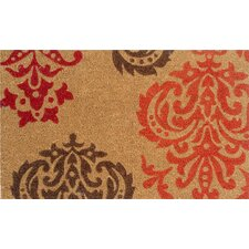 Crystle Orange Baroque Doormat
