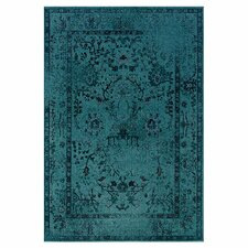 Renaissance Overdyed Teal/Grey Area Rug