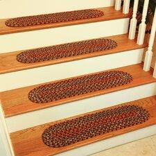 Chanai  Burgundy Stair Tread (Set of 13)