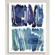 """""""Blue and Green"""" by Kate Roebuck Painting Print on Canvas"""