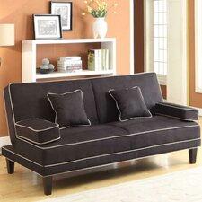 Jordan Microfiber Two Tone Piping Sleeper Sofa