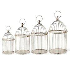 4 Piece Metal Decorative Bird Cages with Handle