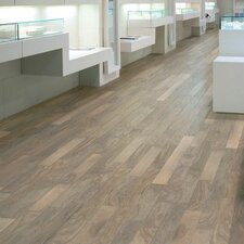 "5"" Engineered Walnut Hardwood Flooring in Shell White"