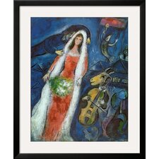 'La Mariee' by Marc Chagall Framed Painting Print